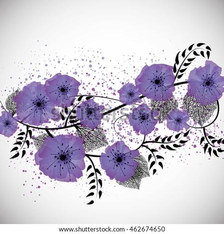 purple flowers and black leaves