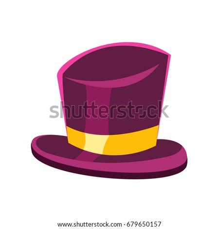 Purple gentleman hat vector Illustration