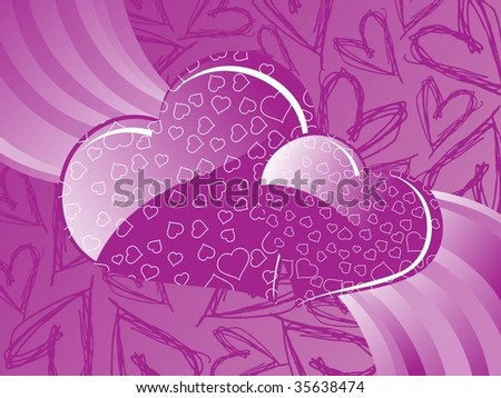 purple love heart background. stock vector : purple heart