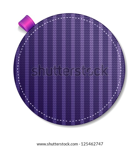 Purple Knitted label