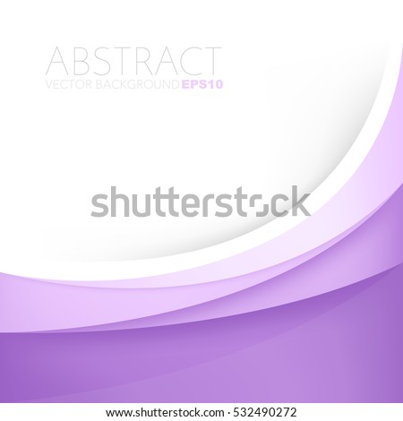 Purple line vector background curve paper layer with white space for text and message background design