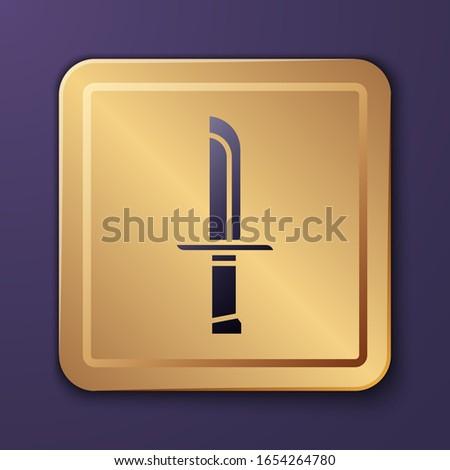 purple military knife icon