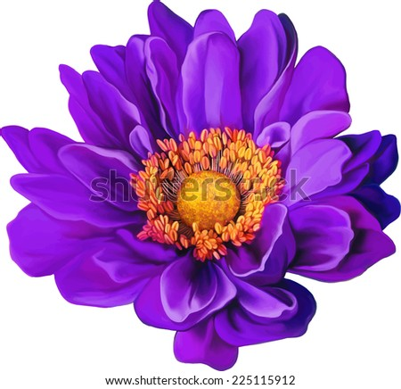 Purple flower background download free vector art stock graphics purple mona lisa flower spring flower isolated on white background mightylinksfo