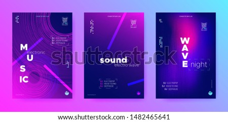 Purple Music Poster. Dj Party. Blue Music Background. Neon Beats. Purple Flyer Dj. Neon Beats. Cyan Music Movement.