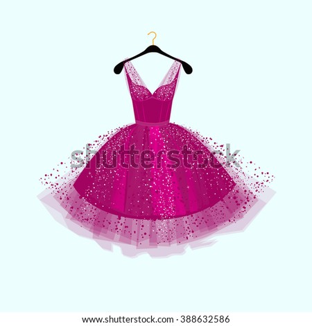 purple party dressvector
