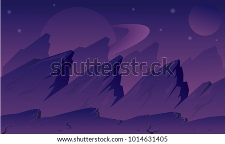 Stock Photo Purple planet video game background