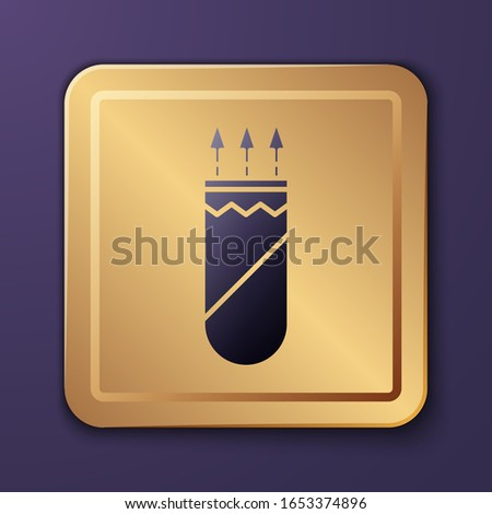 purple quiver with arrows icon