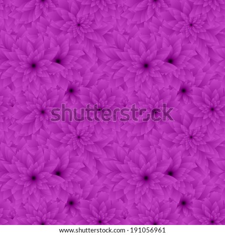 Purple seamless flower pattern background - vector version