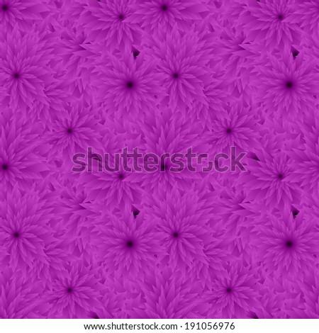 Purple seamless flower pattern background - vector version