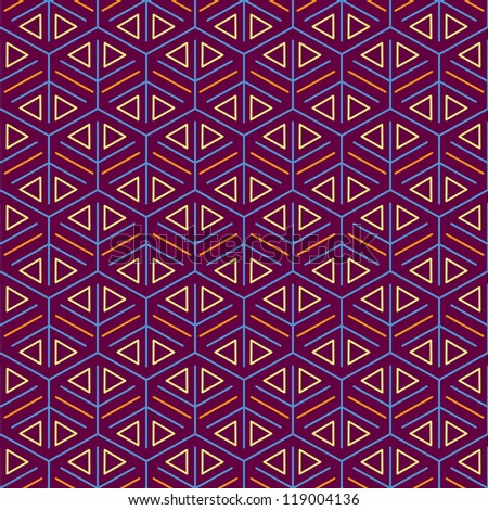 Purple Seamless Pattern with Mesh Decoration Texture - stock vector