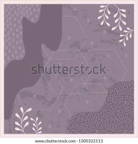stock-vector-purple-silk-scarf-with-abstract-style-design