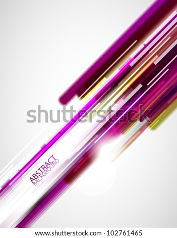 Purple straight shiny lines abstract background - stock vector