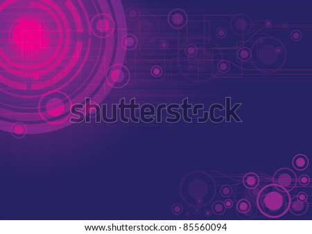 purple vector abstract background, science concept