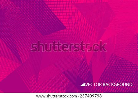 Purple Vector Background With Triangles Triangle Design Geometrical Pattern Polygons Shards