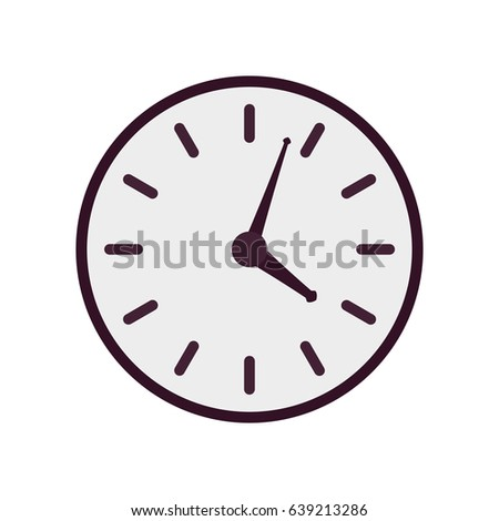 purple vector clock icon  flat