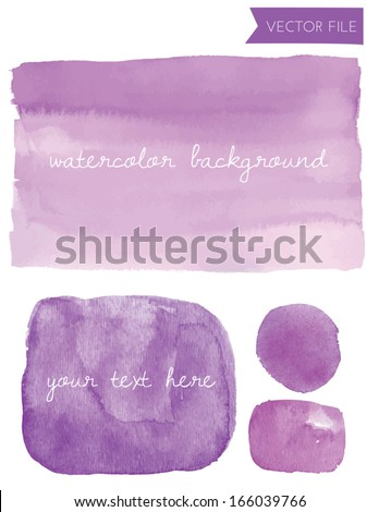 Purple Vector Watercolor Background