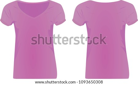 purple women v neck t shirt
