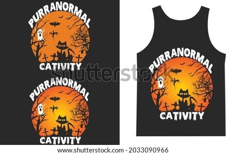 Purranormal Cativity Halloween T_shirt Typography Design Vector