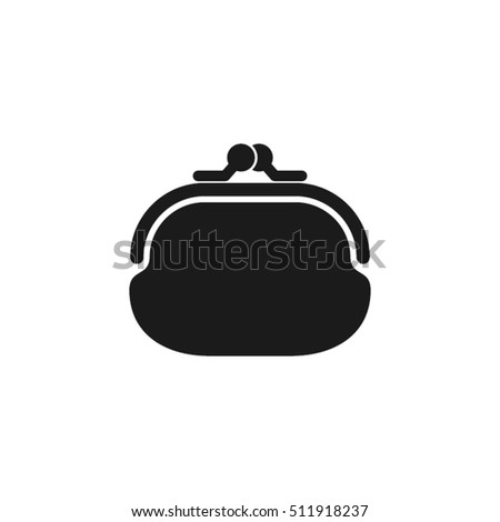 purse icon vector illustration eps10. Isolated badge  flat design for website or app - stock graphics
