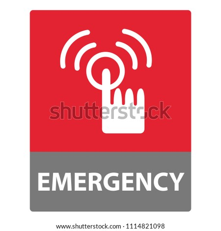 Push Alarm Button icon, Emergency button