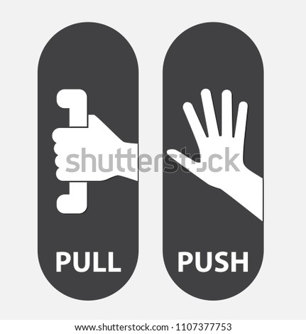 push and pull, vector illustration