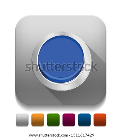 push button With long shadow over app button
