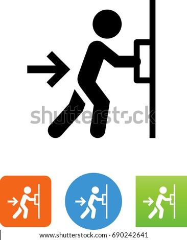 Push Door Icon