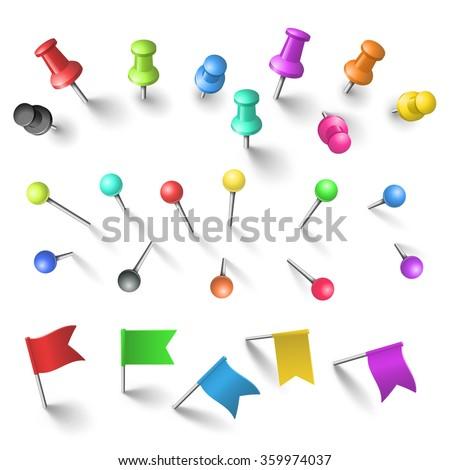 Push pins set