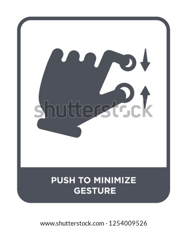 push to minimize gesture icon vector on white background, push to minimize gesture trendy filled icons from Hands and guestures collection, push to minimize gesture simple element illustration