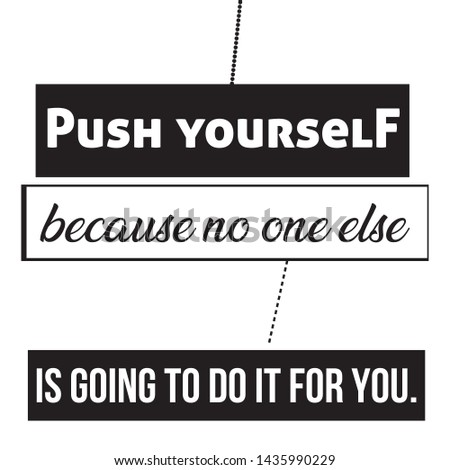 Push Yourself T-shirt and apparels print graphic vector Varsity typography - Vector