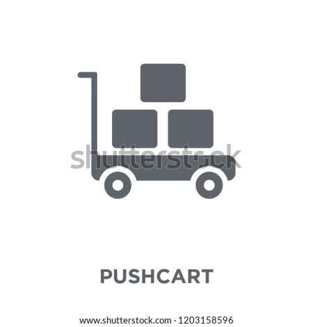 Pushcart icon. Pushcart design concept from  collection. Simple element vector illustration on white background.