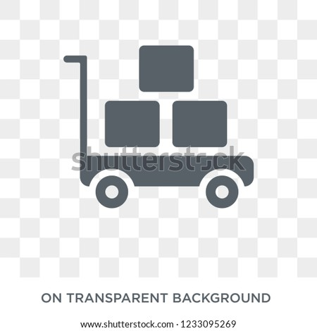 Pushcart icon. Pushcart design concept from  collection. Simple element vector illustration on transparent background.