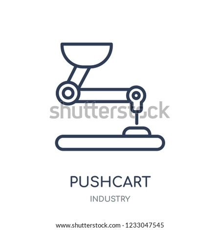 Pushcart icon. Pushcart linear symbol design from Industry collection. Simple outline element vector illustration on white background