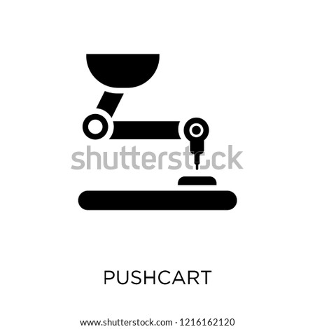 Pushcart icon. Pushcart symbol design from Industry collection. Simple element vector illustration on white background.