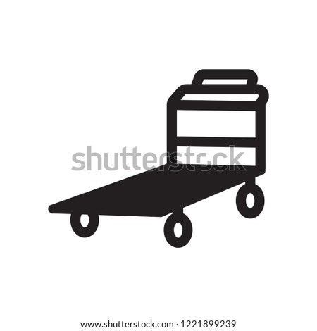 Pushcart icon. Trendy Pushcart logo concept on white background from Industry collection. Suitable for use on web apps, mobile apps and print media.