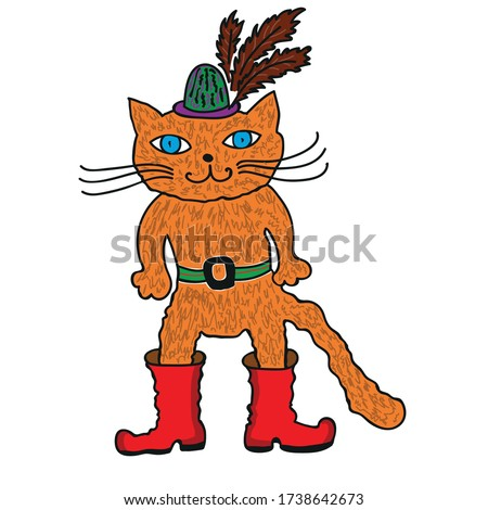 puss in boots and hat on a