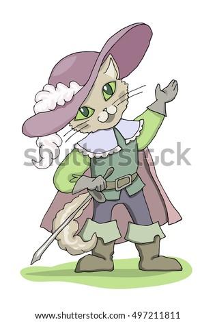 puss in boots cartoon vector