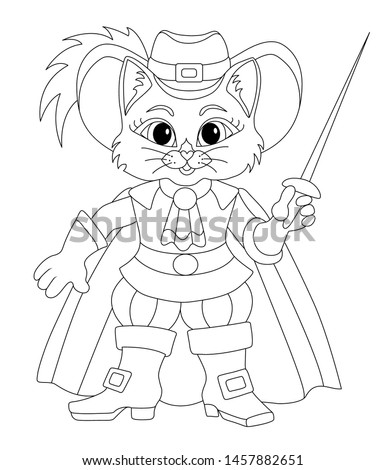 puss in boots coloring isolated