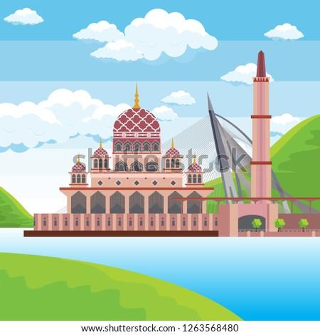putra mosque blue sky