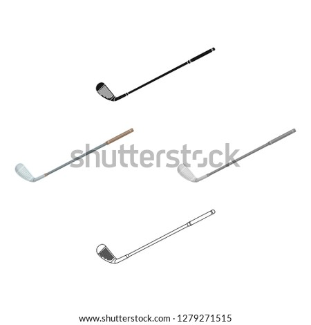 Putter for golf.Golf club single icon in cartoon style vector symbol stock illustration web.
