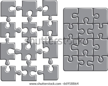 Puzzle background. Vector illustration