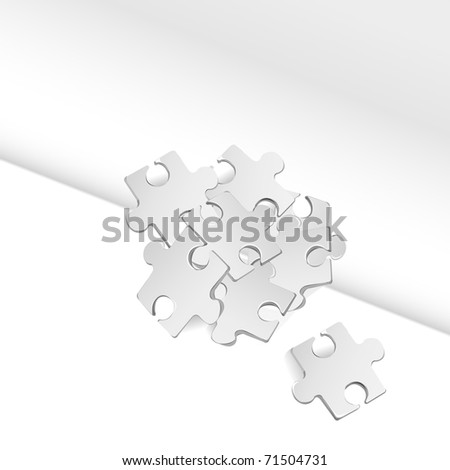puzzle background vector illustration