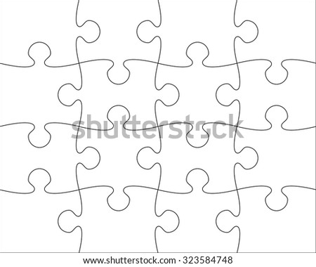 puzzle blank template easy to