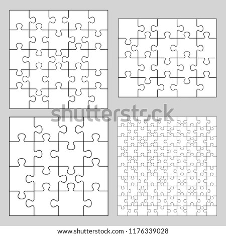 Puzzle collection. Vector