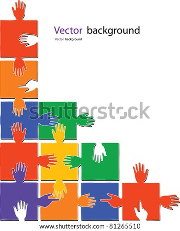 puzzle color vector illustration