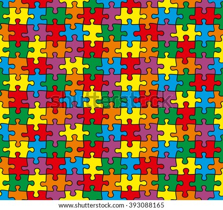 puzzle colorful seamless