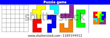 Puzzle game.  Complete the Pattern. Education logic game for preschool kids. Vector Illustration.