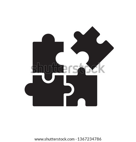 Puzzle icon in trendy flat style design. Vector graphic illustration. Puzzle icon for website design, logo, app, and ui. Vector file. EPS 10.