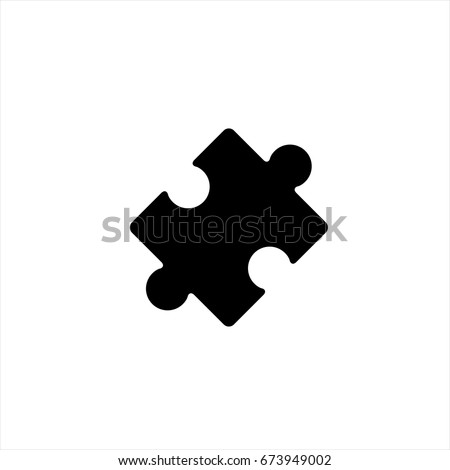 Puzzle Icon in trendy flat style isolated on grey background. Puzzle Icon page symbol for your web site design Puzzle Icon logo, app, UI. Puzzle Icon Vector illustration, EPS10.