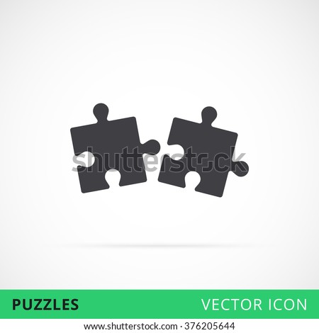 puzzle icon shape vector icon